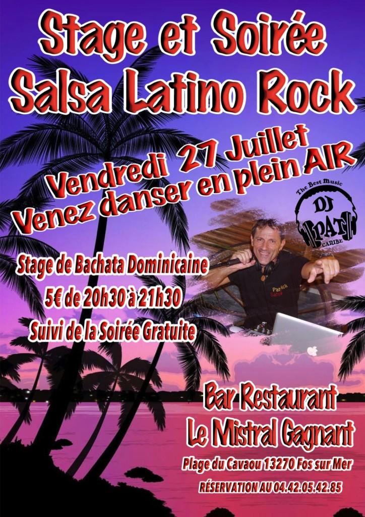 SOIRÉE Salsa Latino Rock 27 juillet 2018