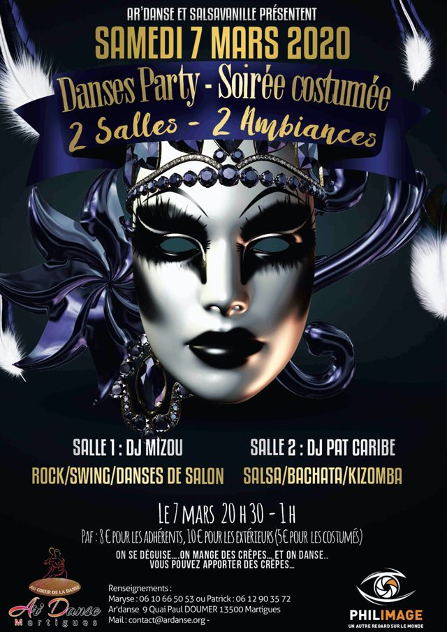 Samedi 7 Mars Carnaval en Danses