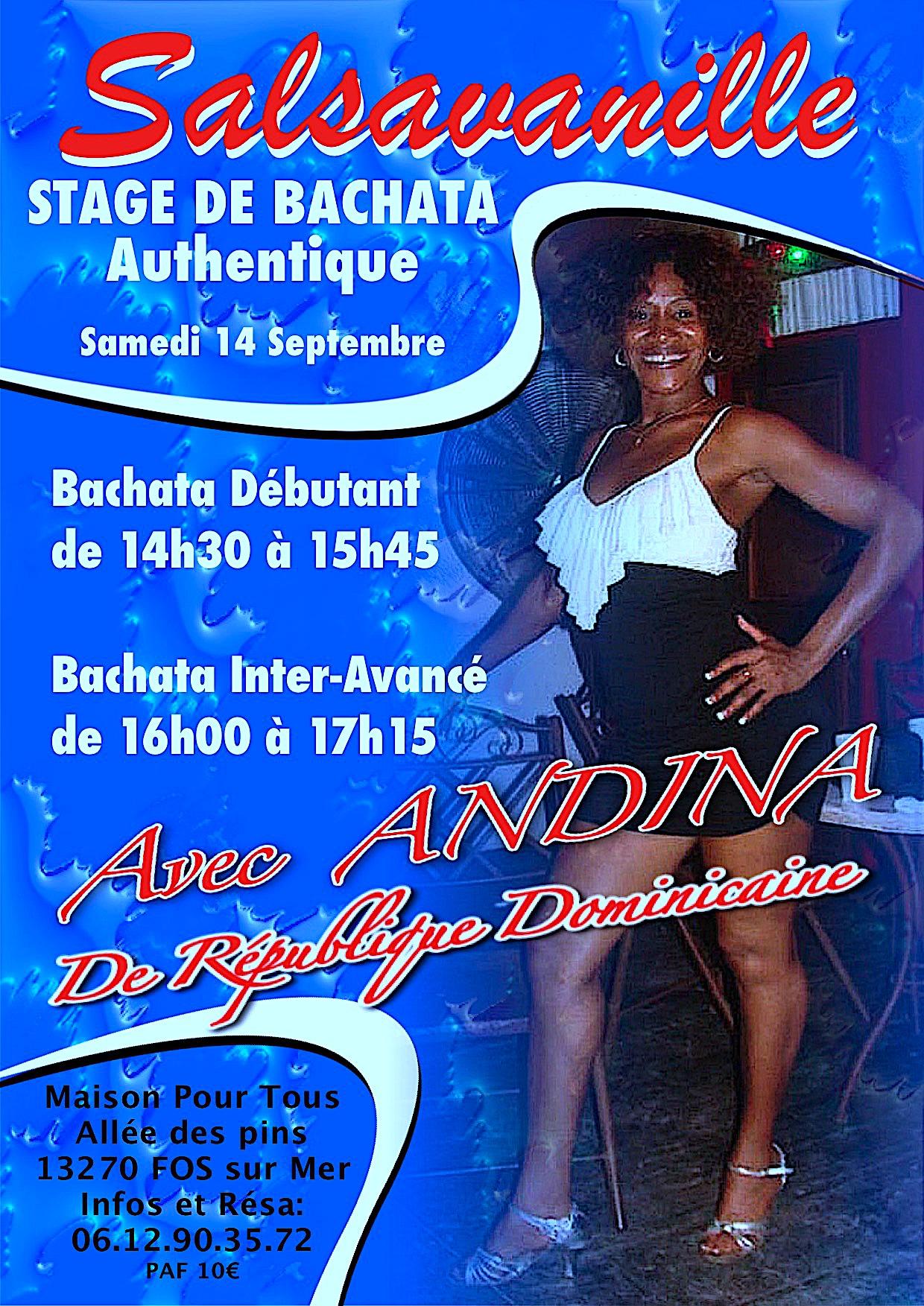 Stage bachata avec Andina2