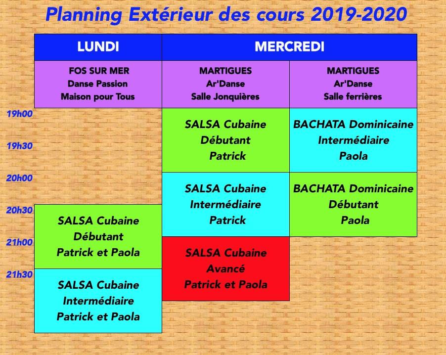 Planning Extétrieur 2019-2020