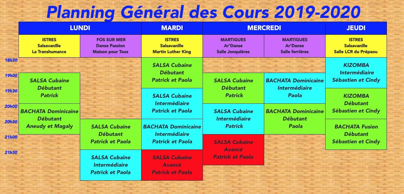 Planning Général 2019-2020
